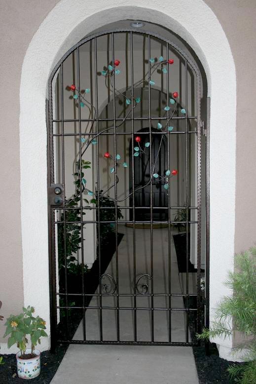 Wrought iron security screen doors sacramento custom work - Iron security doors home depot ...