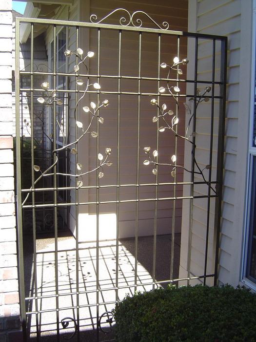 wrought iron security screen doors
